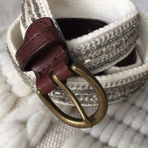 Abercrombie & Fitch jeweled and leather belt